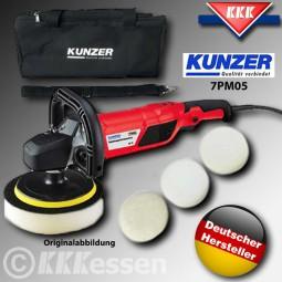 Kunzer 7PM05 Profi Auto Poliermaschine inkl. Zubehör 1500W 3000U/m